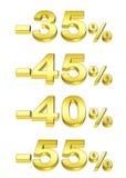 Pour cent d'or Photos stock