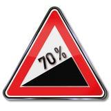 70 pour cent d'augmentation Images libres de droits