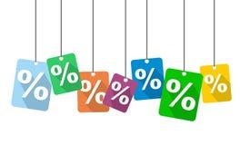 Pour cent de fond Image libre de droits