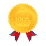 100 pour cent de garantie de qualité de satisfaction Photo stock