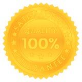 100 pour cent de garantie de qualité de satisfaction Images libres de droits