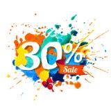 30 pour cent de vente Peinture d'éclaboussure illustration libre de droits