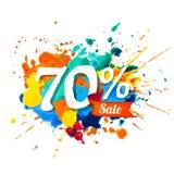 70 pour cent de vente Peinture d'éclaboussure Illustration Libre de Droits