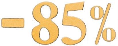 Pour cent  escompte Sans 85 quatre-vingt-cinq pour cent, les chiffres est Images libres de droits