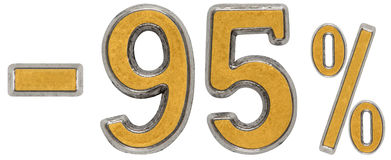 Pour cent  escompte Sans 95, quatre-vingt-quinze, pour cent Métal NU Photos libres de droits
