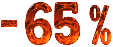 Pour cent  escompte Sans 65, soixante-cinq pour cent, chiffres sont Photos stock
