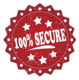 100 pour cent fixent le label grunge rouge, autocollant Photo libre de droits