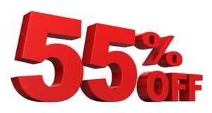 55 pour cent hors fonction Images libres de droits