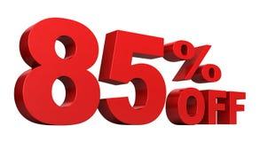 85 pour cent hors fonction illustration de vecteur