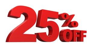 25 pour cent hors fonction Photos libres de droits