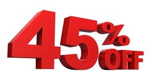 45 pour cent hors fonction Photo libre de droits