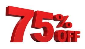 75 pour cent hors fonction Photo libre de droits