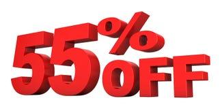 55 pour cent hors fonction Photo stock