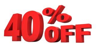 40 pour cent hors fonction Images stock