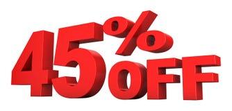 45 pour cent hors fonction illustration de vecteur