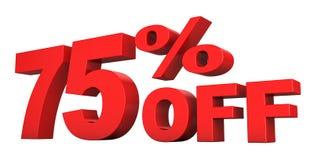 75 pour cent hors fonction Images stock