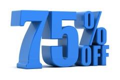 75 pour cent hors fonction illustration libre de droits