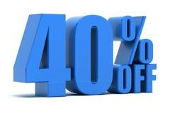 40 pour cent hors fonction Illustration Libre de Droits