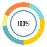 Pour cent montrant l'infographics, style plat Photo stock