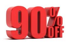 90 pour cent outre de la promotion Photographie stock libre de droits