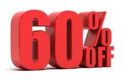 60 pour cent outre de la promotion Images libres de droits