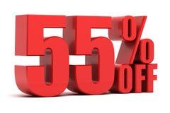 55 pour cent outre de la promotion Images stock