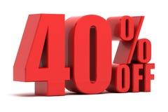 40 pour cent outre de la promotion Photographie stock libre de droits