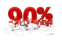 Pour cent outre de la vente au rabais photographie stock libre de droits