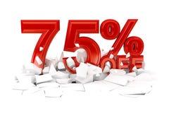 Pour cent outre de la vente au rabais images libres de droits