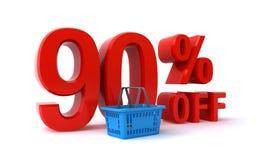 90 pour cent outre de remise Photos libres de droits