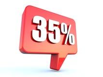35 pour cent outre de signe de bulle illustration libre de droits