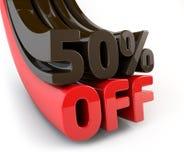 50 pour cent outre de signe promotionnel Image stock