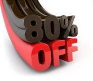 80 pour cent outre de signe promotionnel illustration stock
