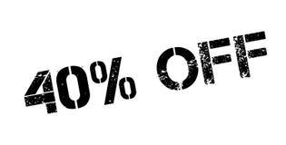 40 pour cent outre de tampon en caoutchouc Photo libre de droits