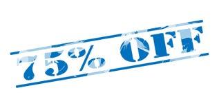 75 pour cent outre de timbre bleu Photographie stock