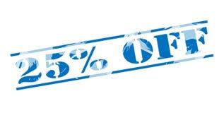 25 pour cent outre de timbre bleu Photo libre de droits