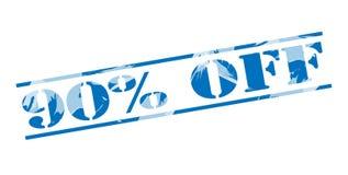 90 pour cent outre de timbre bleu Photo stock