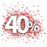 40 pour cent rouges Image stock