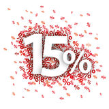 15 pour cent rouges Photo stock