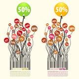 Pour cent supplémentaires de remise de promotion 50 Images libres de droits