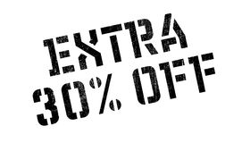 30 pour cent supplémentaires outre de tampon en caoutchouc Photographie stock