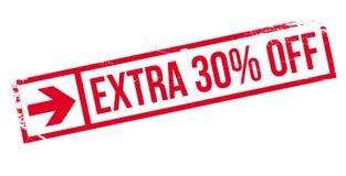 30 pour cent supplémentaires outre de tampon en caoutchouc illustration de vecteur