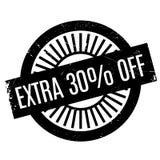 30 pour cent supplémentaires outre de tampon en caoutchouc Images stock