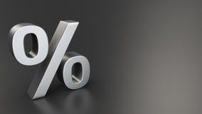 Pour cent sur le noir illustration stock