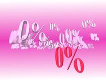 Pour cent zéro Images stock