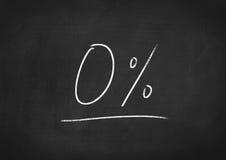0 pour cent zéro Image stock