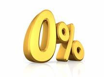 Pour cent zéro d'or Images libres de droits