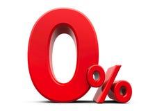 Pour cent zéro de rouge illustration libre de droits