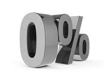 Pour cent zéro en métal illustration stock