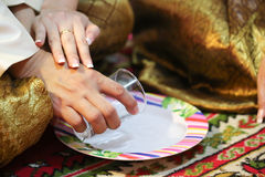 Pour ceremonial water Royalty Free Stock Images